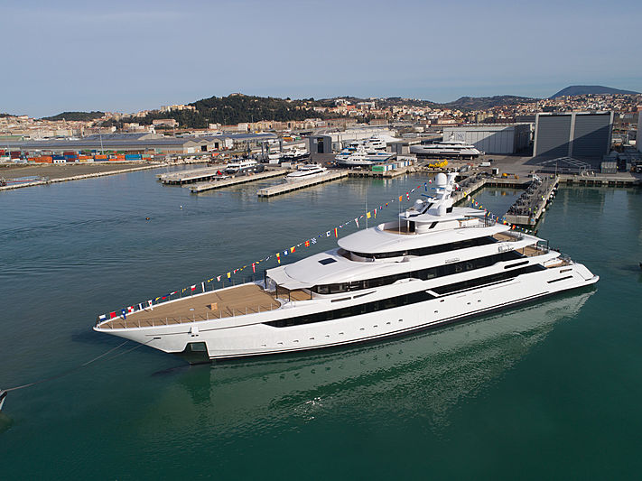 Dragon yacht by Columbus Yachts launch in Ancona