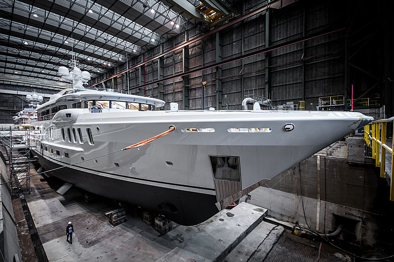 Waka yacht launch at Amels