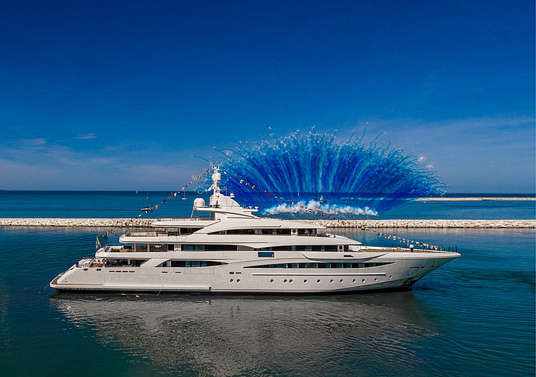 yacht CRN 135 Mimtee launched at CRN