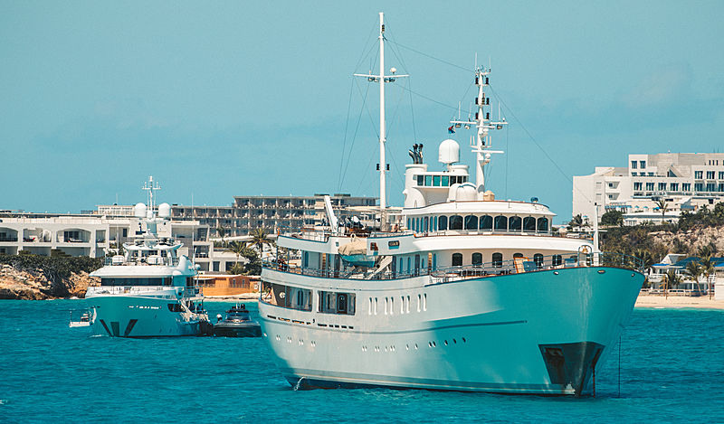 Sherakhan and Driftwood at anchor in St Maarten
