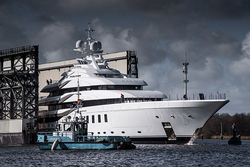 Madsummer yacht (project Fiji) launched by Lürssen
