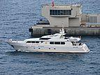 Antares Star yacht leaving Monaco