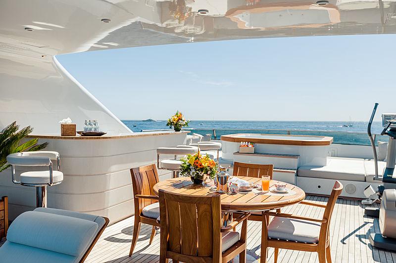 Legenda yacht sundeck
