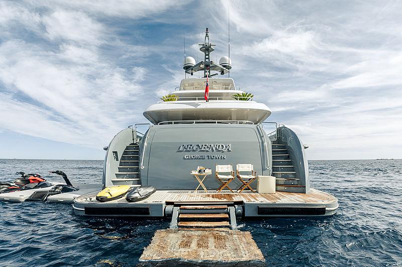 Legenda yacht swim platform