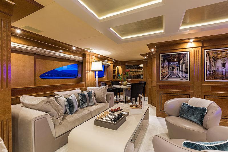 Legenda yacht upper deck saloon