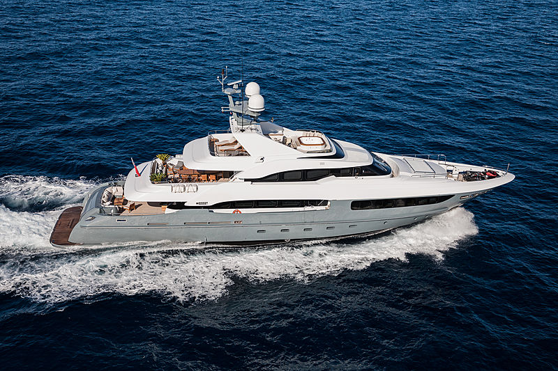 Legenda yacht running