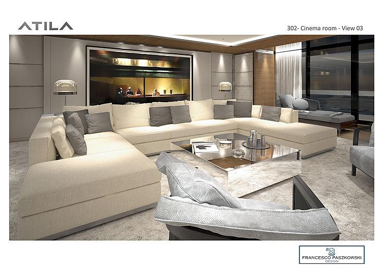 SanLorenzo 64 Steel cinema room render
