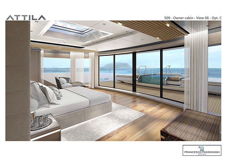SanLorenzo 64 Steel stateroom render