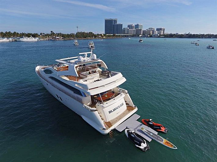 Bluocean yacht anchored