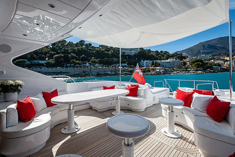 Mangusta 108 King yacht aft deck