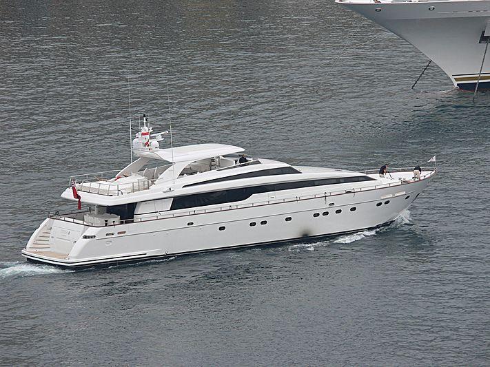 Titan II yacht leaving Monaco