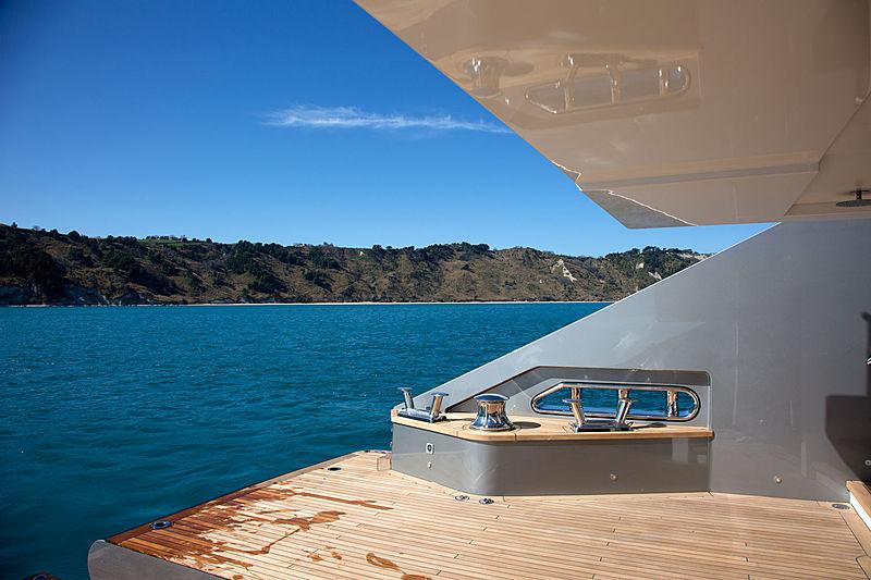 Audace yacht swim platform