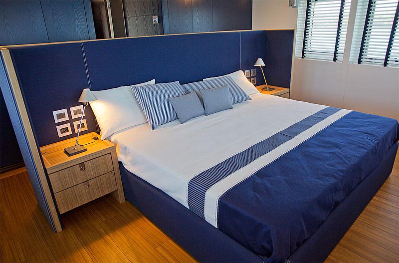 Audace yacht owner's suite