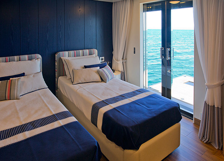 Audace yacht stateroom