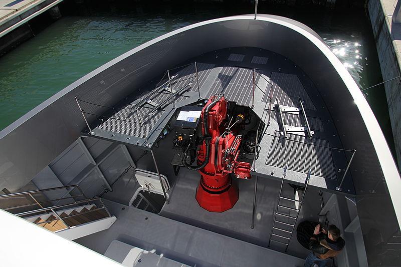 Audace yacht foredeck