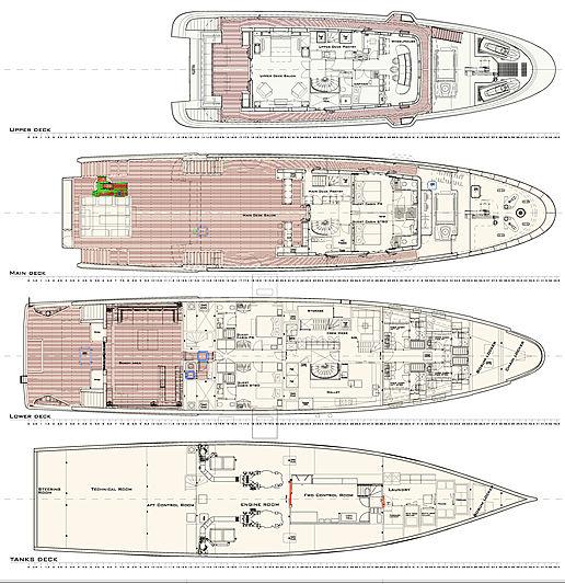 Audace yacht layout