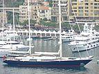 Santa Maria yacht leaving the Monaco Yacht Show