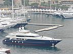 Blue Scorpion yacht leaving the 2006 Monaco Yacht Show