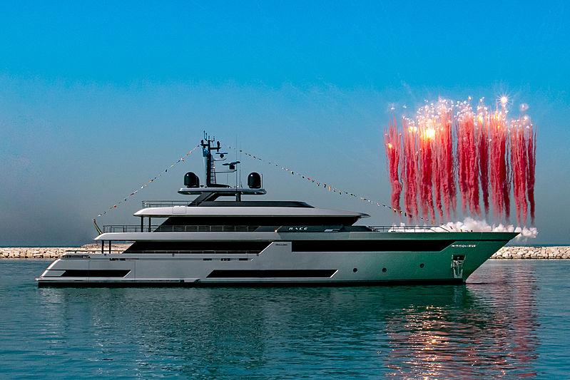 Riva 50m Race yacht launch