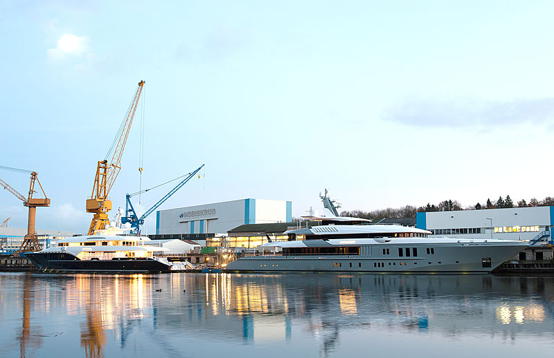 Mogambo and Sapphire at the Nobiskrug shipyard