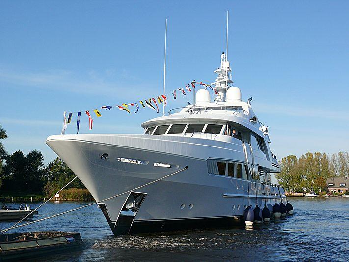 Kathleen Anne yacht launch ceremony in Aalsmeer