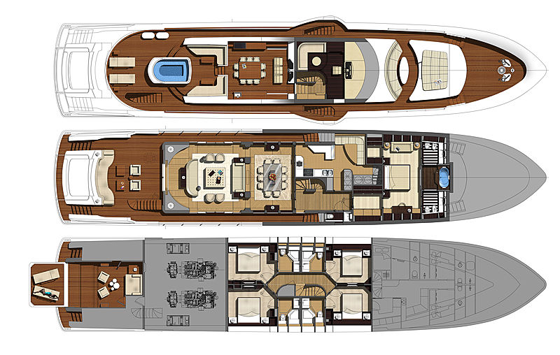 Phoenx 130 yacht layout