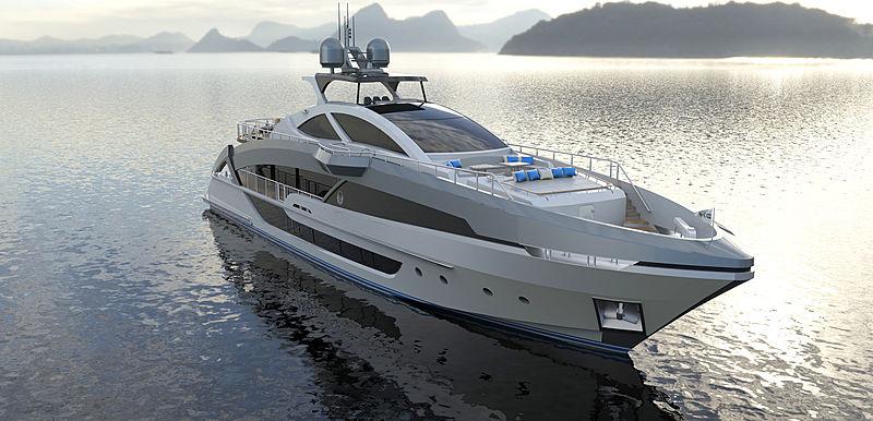 Phoenx 130 yacht exterior design