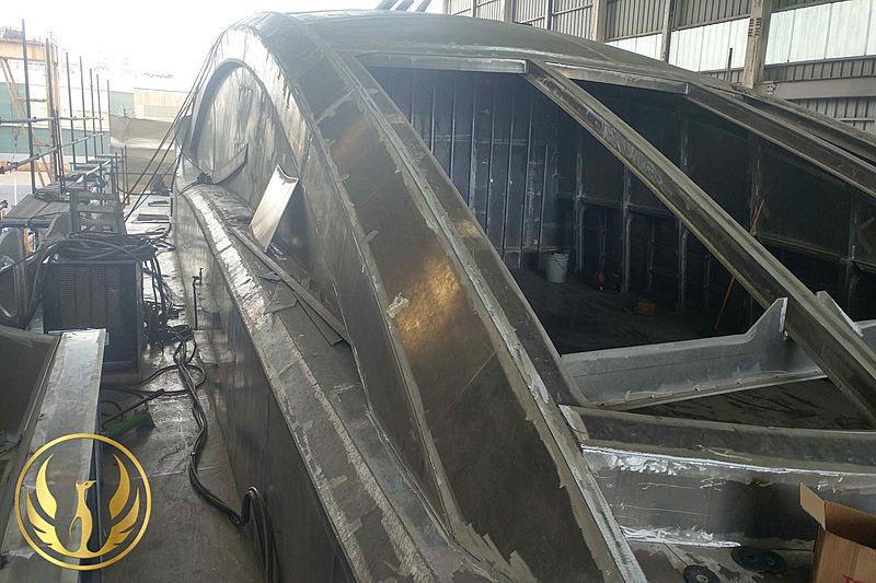 Phoenix 130 yacht in build in Jeonnam, South Korea