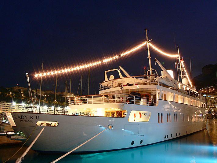 Lady K II yacht in Port Hercule