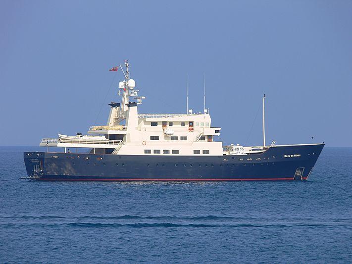 Bleu De Nimes yacht anchored off Antibes