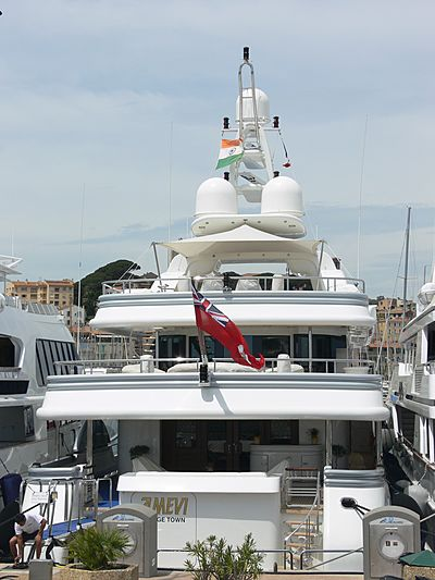 Amevi yacht in Vieux Port during the Film Festival