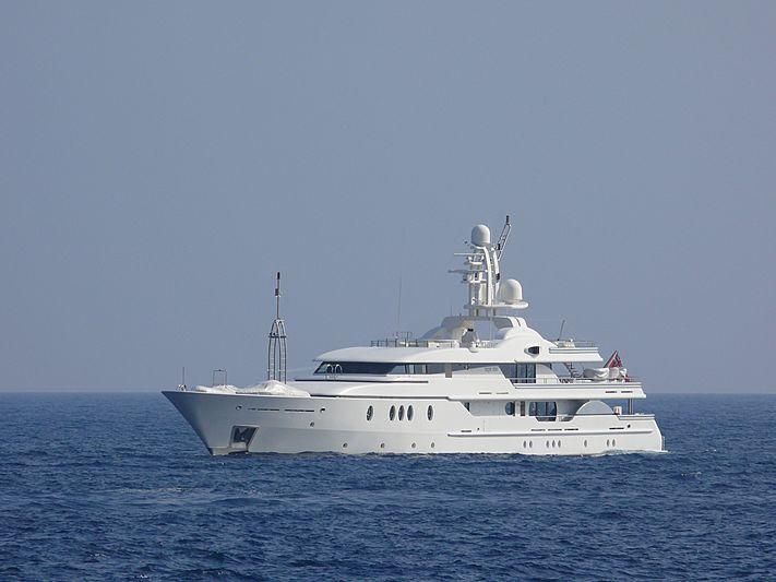 Deja Too yacht cruising off the coast of Monaco