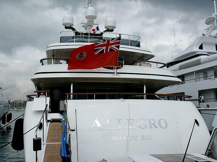 Allegro yacht in Antibes