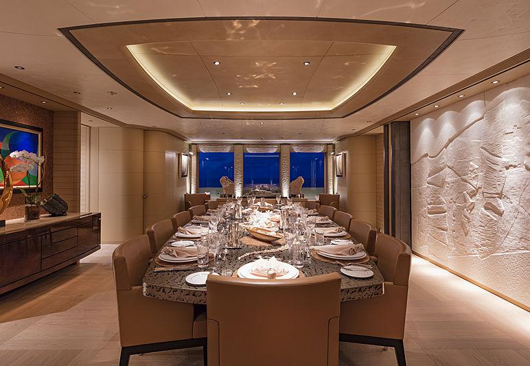 RoMEA yacht dining room