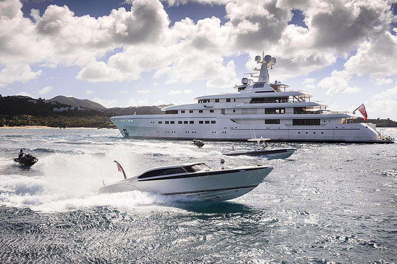 RoMEA yacht with tender & toys