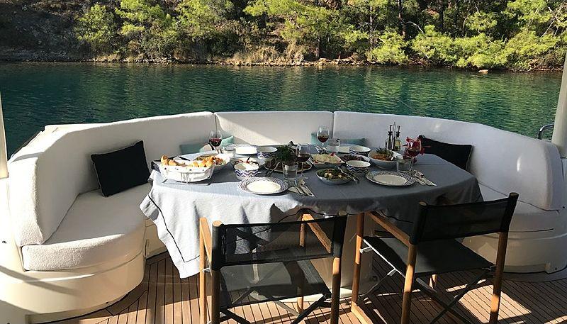 Evolution yacht deck
