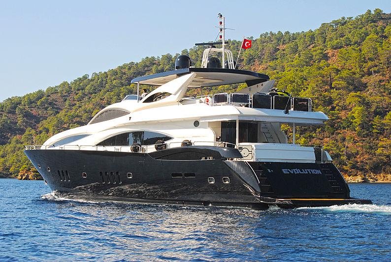 Evolution yacht cruising