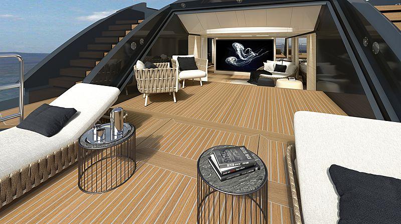 Baglietto 55m 10225 yacht exterior design