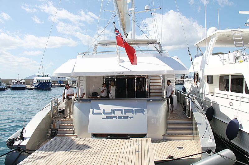 Lunar yacht at the Cannes Yachting Festival