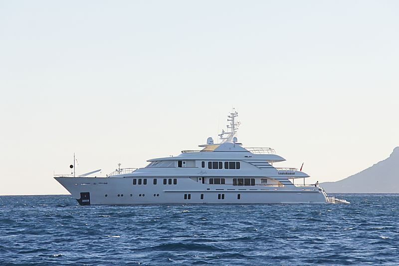 Mystic yacht anchored off Cannes