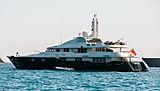 Odessa yacht anchored off St. Barths