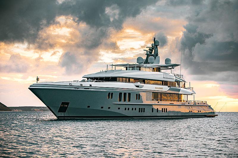 Mogambo yacht anchored off Anguilla