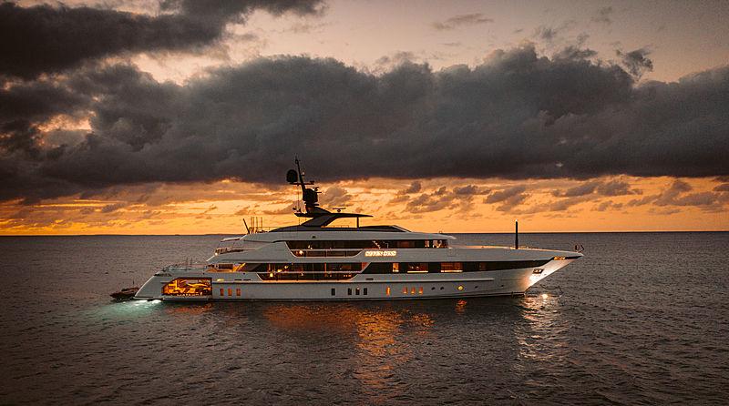 Seven Sins yacht anchored off Anguilla