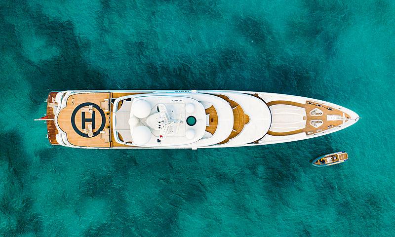 Naia yacht anchored off Marigot