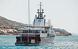Le Grand Bleu yacht anchored off Simpson Bay