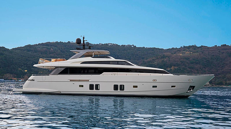 India yacht anchored