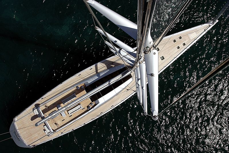 Ghost yacht aerial view