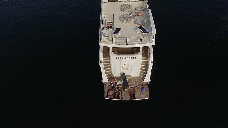 Corroboree yacht deck