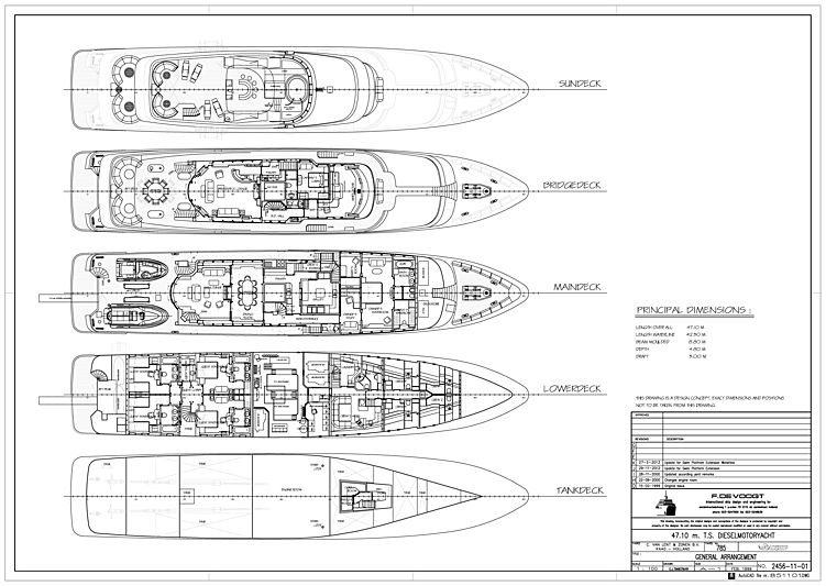 Mary A yacht layout