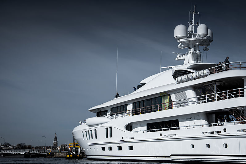 Amels 220 Aurora Borealis yacht launch in Vlissingen